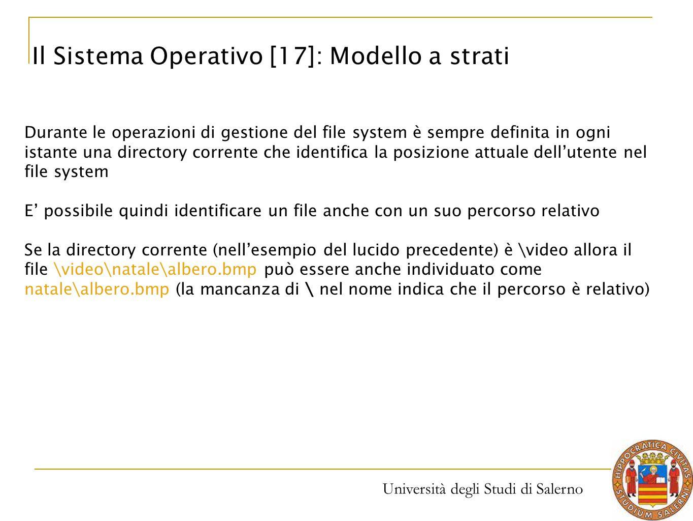 Il Sistema Operativo [17]: Modello a strati